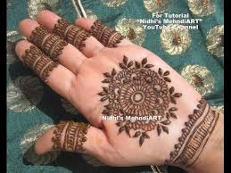 youtube circular round easy henna mehndi design tutorial