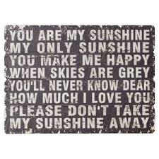 You Are My Sunshine Wall Decor Text Wall Accents U0026 Decor Joss U0026 Main