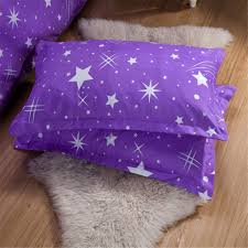 purple and deep blue galaxy meteor theme girls boys bedding sets