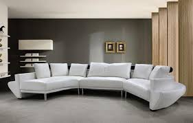 Curved Couch Sofa Contemporary White Leather Curved Sectional Sofa Mississippi