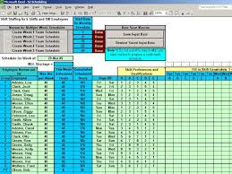 Excel Shift Schedule Template Microsoft Work Schedules Templates Software Employee