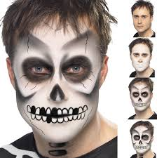mens womens boys halloween black u0026 white skeleton fancy dress face