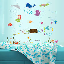 compare prices on 3d ocean floor sticker online shopping buy low ocean wall sticker removable 3d kids room diy home decor wall decal china mainland