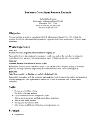 Example Business Resume by How To Write A Consulting Resume Resume For Your Job Application