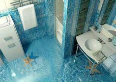 bathroom floor designs 3d flooring looks like a glass bottom bathroom wonderful