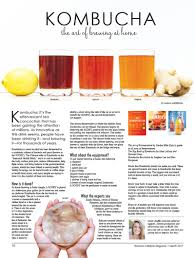 kombucha the art of brewing at home women u0027s lifestyle magazine