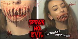 evil halloween makeup speak no evil special fx makeup tutorial youtube