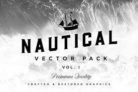 nautical vector pack logo template illustrations creative market