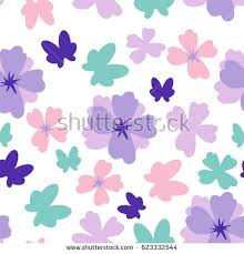 simple flower butterfly seamless pattern on stock vector 623332544
