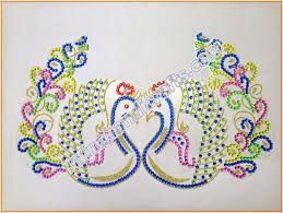 Handicraft Home Decor Items Acrylic Rangoli Peacock Design Home Decor Diwali Decoration Indian