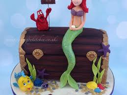 the little mermaid treasure chest cake cakecentral com