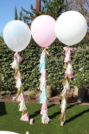 36 giant round balloon with tassel garland pink by paris312party
