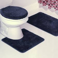 Navy Blue Bathroom Rug Set Bath Mat Sets