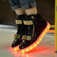 high top light up shoes aliexpress com buy fashion 8 colors men led shoes autumn winter