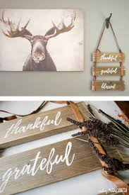Wood Signs Home Decor Thankful Grateful Blessed Pallet Wood Sign With Leather Straps