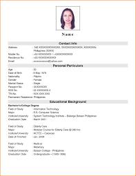 simple curriculum vitae format doc gallery of exles of resumes resume exle simple format doc in