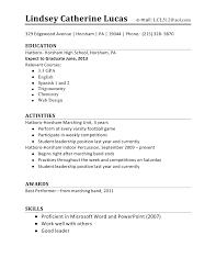 resume exles for highschool students resume template for high school student high school student