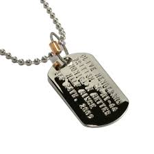 copper u0026 wire thick men u0027s stainless 2 0 dog tag u0026 ball chain