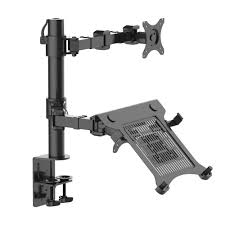 Wall Mount Laptop Desk by Fleximounts 2 In 1 Dual Monitor Arm Desk Mount Laptop Stand Fits
