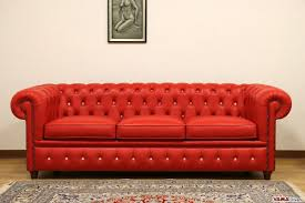 15 best collection of red chesterfield sofas