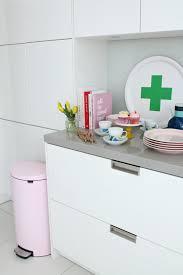 modern pink kitchen littlebigbell my pink brabantia bin from binopolis