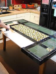 tile table top makeover create a mosaic tile tabletop tile patterns tabletop and plywood