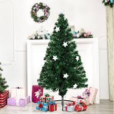 homcom 5ft 150cm fibre optic artificial tree w