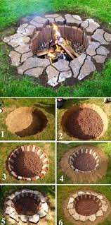 rustic diy fire pit diy backyard projects and garden ideas