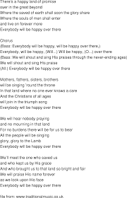 time song lyrics everybody will be happy there