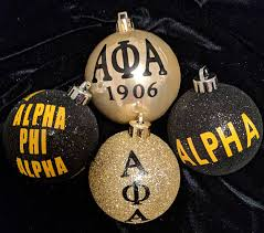 four 4 fraternity ornaments inspired by alpha phi alpha 1906 for my