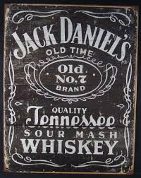 5669 metal advertising sign jack daniels label 12 5x16