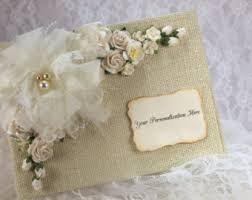 wedding photo albums 5x7 burlap photo album etsy