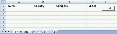 add values to different sheets vba