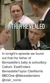 Bernadette Meme - father revealed eastenders in tonight s episode we found out that