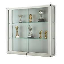 lockable glass display cabinet showcase wall glass showcase with lockable sliding doors glass display
