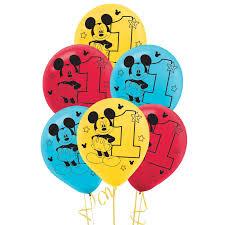 mickey mouse 1st birthday disney mickey mouse 1st birthday balloon birthdayexpress