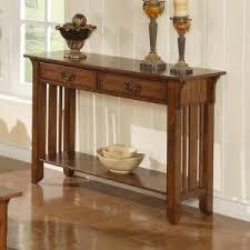 Oak Sofa Table Maple Console Tables Hayneedle