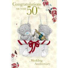 50th wedding anniversary greetings me to you 50th wedding anniversary card congratulations on your