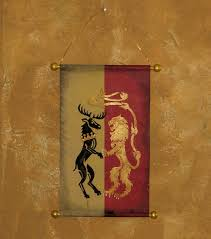 house lannister house lannister and baratheon hand painted canvas banner