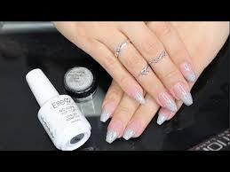 diy holographic unicorn french tip nails youtube