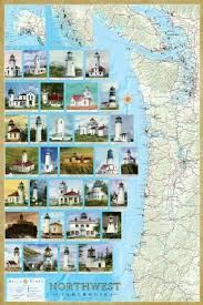 map of oregon lighthouses lighthouses nautical maritime sea gifts collections of all kinds