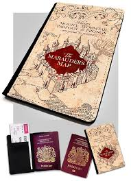 Harry Potter Map Marauders Map Passport Cover Holder Travel Protection For Your