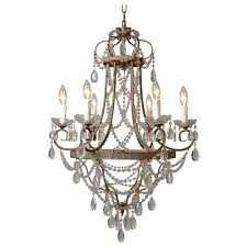 y decor palais 6 light antique bronze chandelier with crystal
