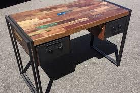 bureau bois recyclé bureau samudra teck recyclé métal 2 tailles architeck