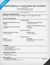 Resume For Theater Sample Resume For Theater Audition Free Blank Tenancy Agreement Uk