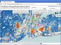 map of nyc maps nyc 2000 to 2010 demographic change