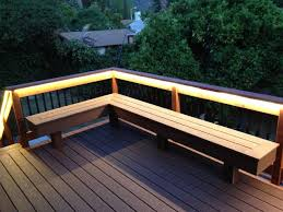 Trex Benches Deck With Bench Composite U0026 Redwood Contemporary Deck