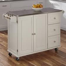 stainless steel island for kitchen stainless steel kitchen islands carts you ll love wayfair