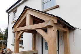 hand build architectural wood framework model house cottage porch oak framed with slate roof traditional hand