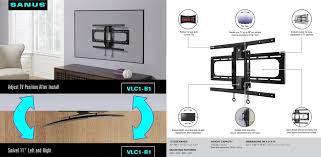 tv wall mount 400 x 400 sanus vlc1 curved tv swivel mount for 40